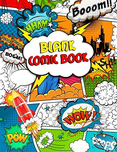 Blank Comic Book: Nifty Multi Template Panelbook to