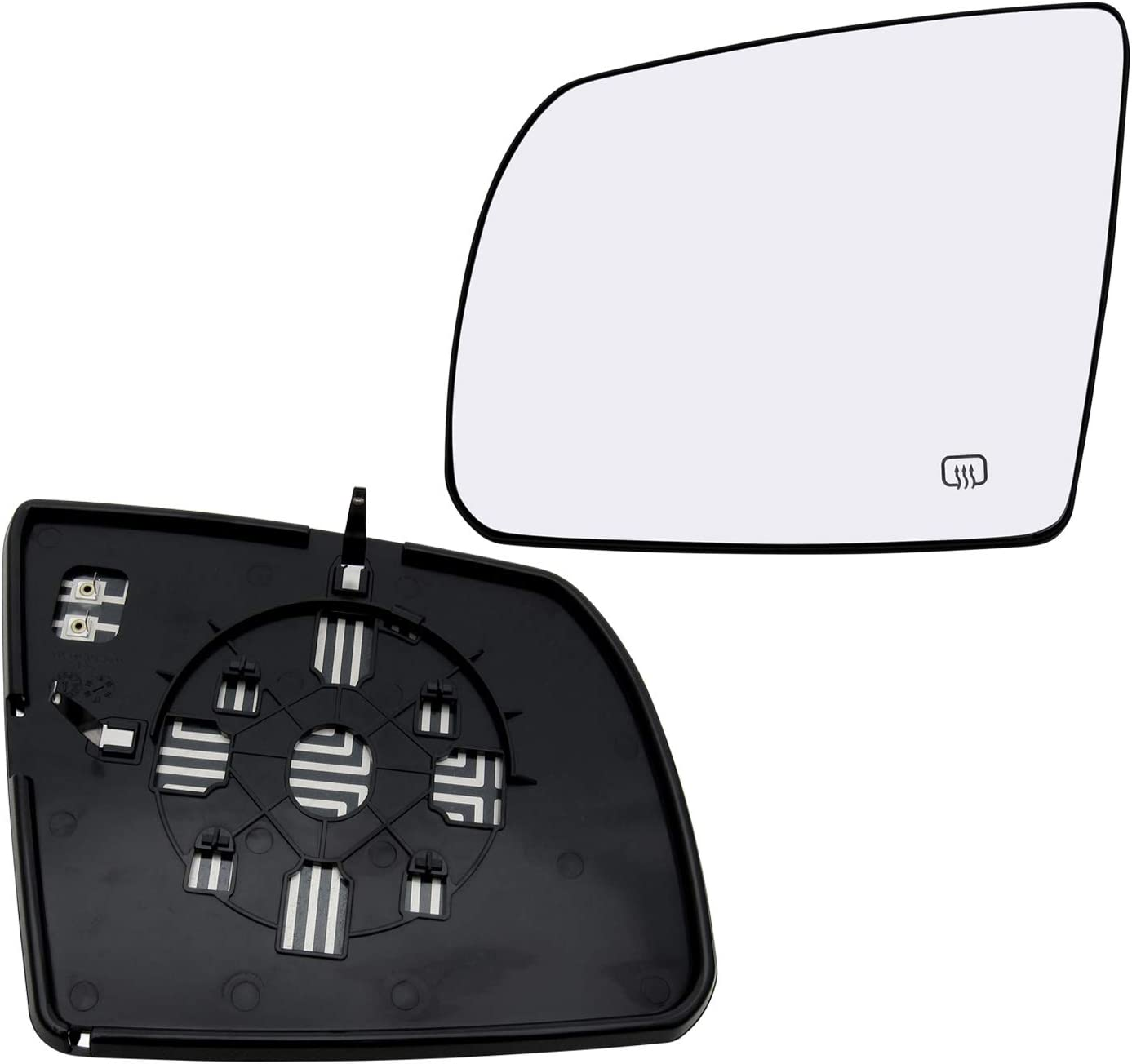 New Replacement Driver Side Mirror Glass W Backing Compatible With 2010-2013 Toyota 4Runner 2008-2013 Highlander Sold By Rugged TUFF