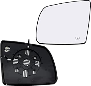 2007, 2008, 2009, 2010, 2011, 2012, 2013, 2014, 2015, 2016 Burco 4170S Flat Driver Side Power Replacement Mirror Glass for Toyota Sequoia Tundra