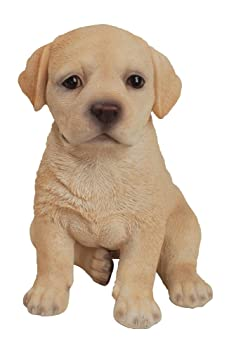 statue of yellow lab puppy sitting