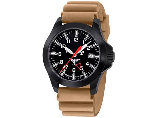 Khs Gmt bpgldr Tactical Black dt Platoon Khs Watches Ldr Militär odxBCer
