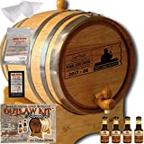 Personalized Outlaw Kit (XO Brandy) ''MADE BY'' American Oak Barrel - Design 076: Dad's Cigar Reserve - Master Distiller Series (3 Liter)