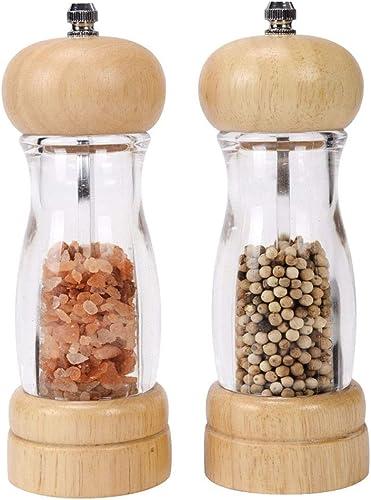 XQXQ Premium Acrylic Salt and Pepper Grinder Set