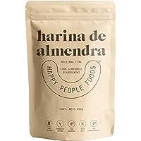 HARINA DE ALMENDRAS - HAPPY PEOPLE FOODS - 450gr - 100% Harina Blanqueada de Almendra de California