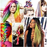 Yonova 24 pcs 20 inch Straight Colored Party or