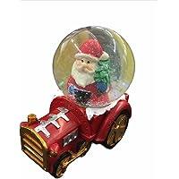 Globo De Neve Natal Papai Noel No Trem 8cm Enfeite Decorativo