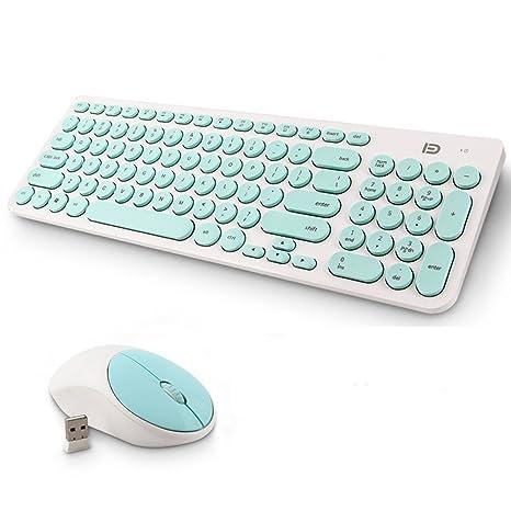 Teclado Inalámbrico y Mouse, EONANT 2 en 1 Teclado 2.4G y Mouse Combo Set