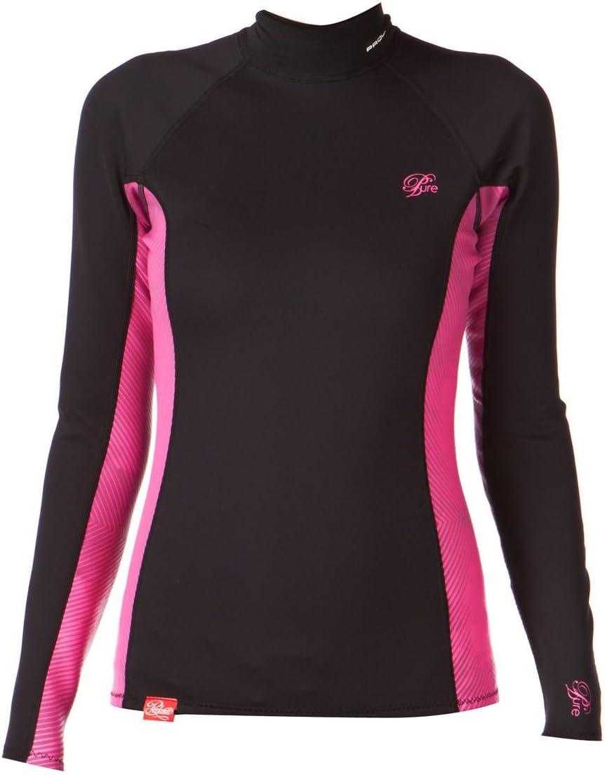 Prolimit - Camiseta de neopreno para mujer (manga larga), color negro y rosa Talla:08: Amazon.es: Deportes y aire libre
