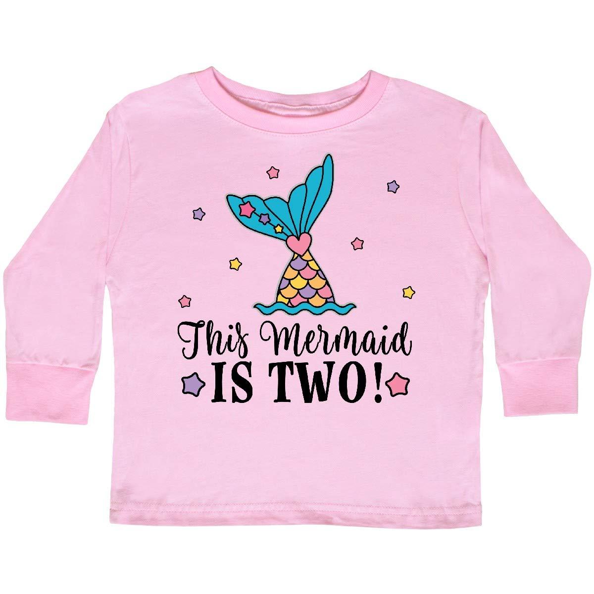 inktastic Mermaid 2nd Birthday 2 Year Old Toddler Long Sleeve T-Shirt