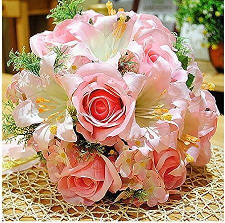 Mi caja lujo flores hechas a mano de rosas y Lily ramo mejor para ...