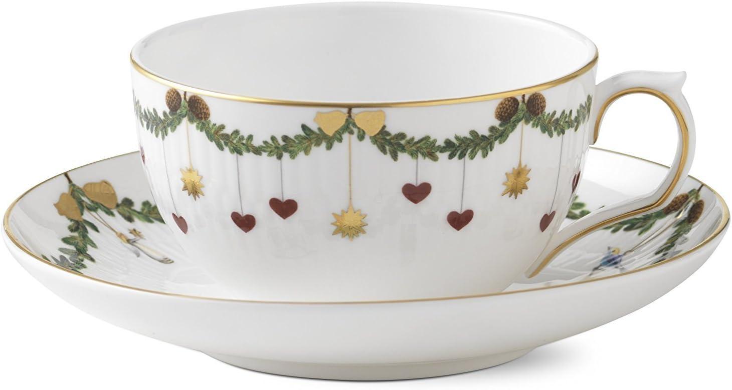 Royal Copenhagen Star Fluted Christmas Tea Cup and saucer 32 cl 61QSpP9RbPLSL1500_