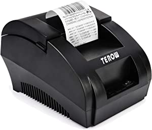 TEROW T5890K USB Thermal Receipt Printer 58mm Mini Small Portable Label Printer with High Speed Printing Compatible with ESC/POS Print Commands Set, Easy to Setup