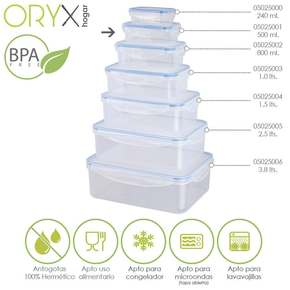 Amazon.com: Oryx Rectangular Plastic Airtight Container ...