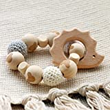 Baby Love Home Hedgehog Wooden Teether Baby Gym