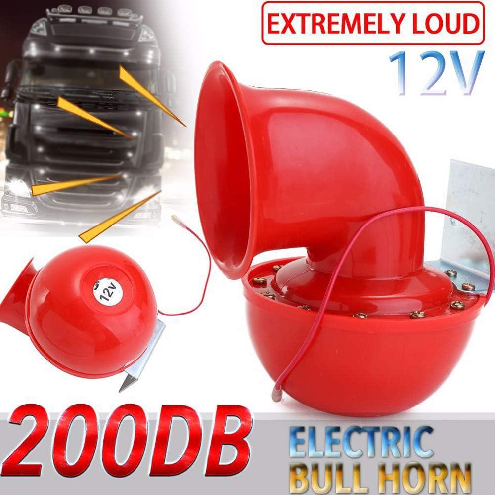Rote Elektrische Raging Bull Lufthupe 200 Db 12 V Für Den Außenbereich Laute Trompete Langlebig Für Auto Lkw Motorrad Boot