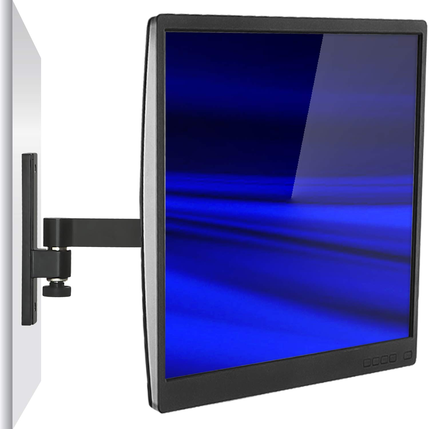 Mount-It! MI-405 Monitor Wall Mount, Full Motion VESA Stand for LCD LED Computer Displays up to 30 Inches, Articulating Arm Fits Monitors up to 30 Inches, VESA 75 100 Compatible, 33 lb Capacity Black