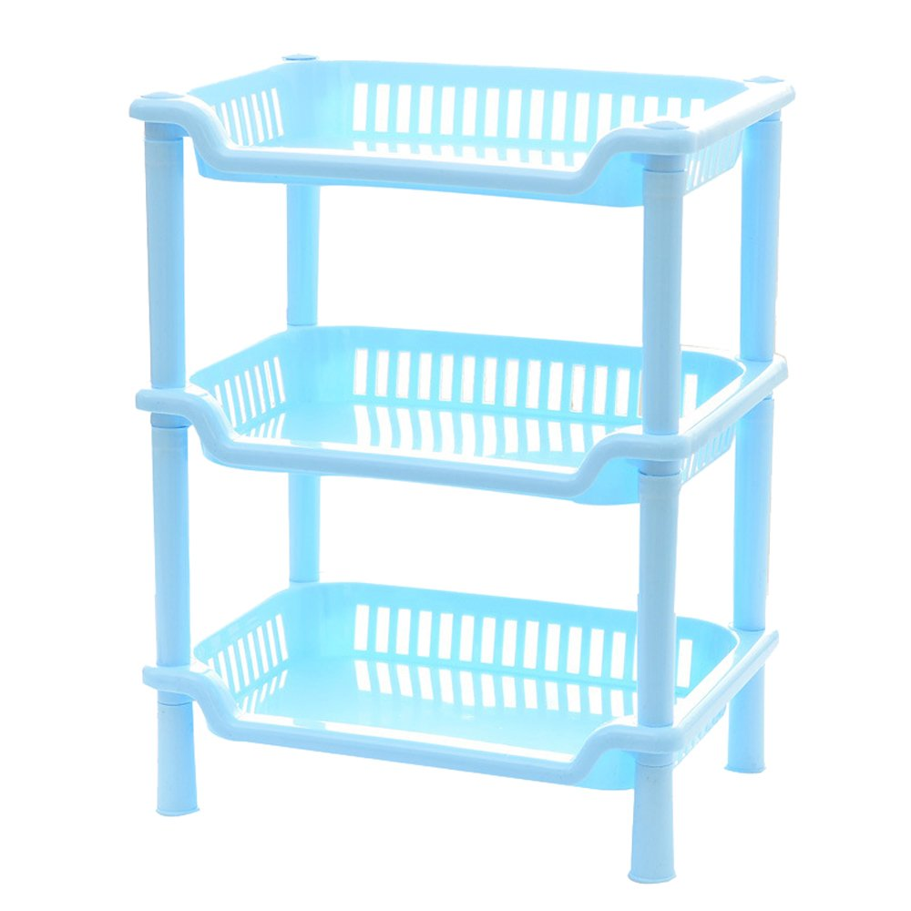 Amazon.com: TEERFU Corner Shelf Organizer -Free Standing 3 Tier ...
