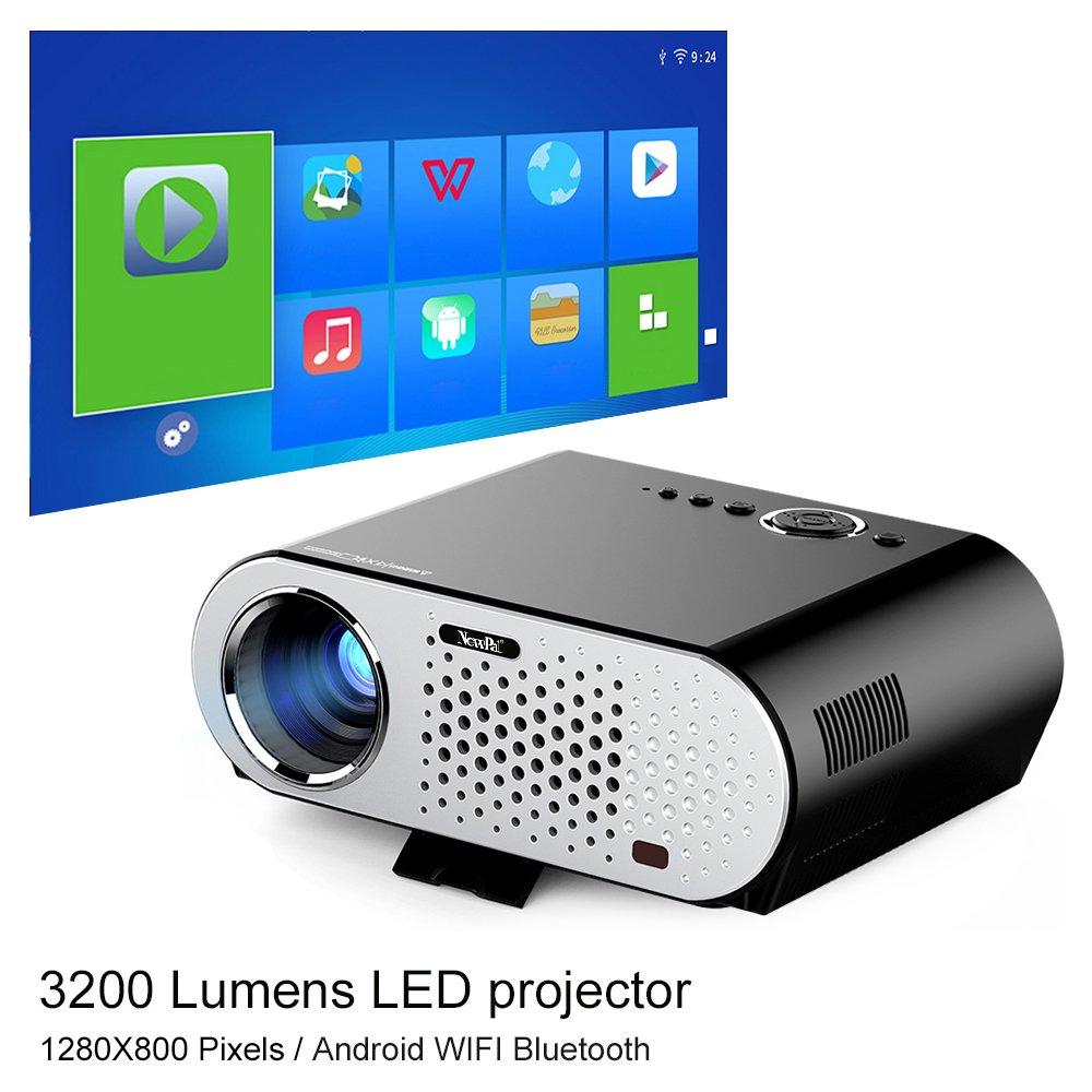 Amazon.com: NewPal GP90UP video projector 3200Lumens andriod ...