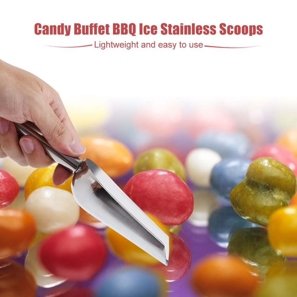Type Two Haofy 5 x Sweet Scoops//5 x Ice Tongs Wedding Candy Buffet Bar Home Kitchen Stainless Steel Set New