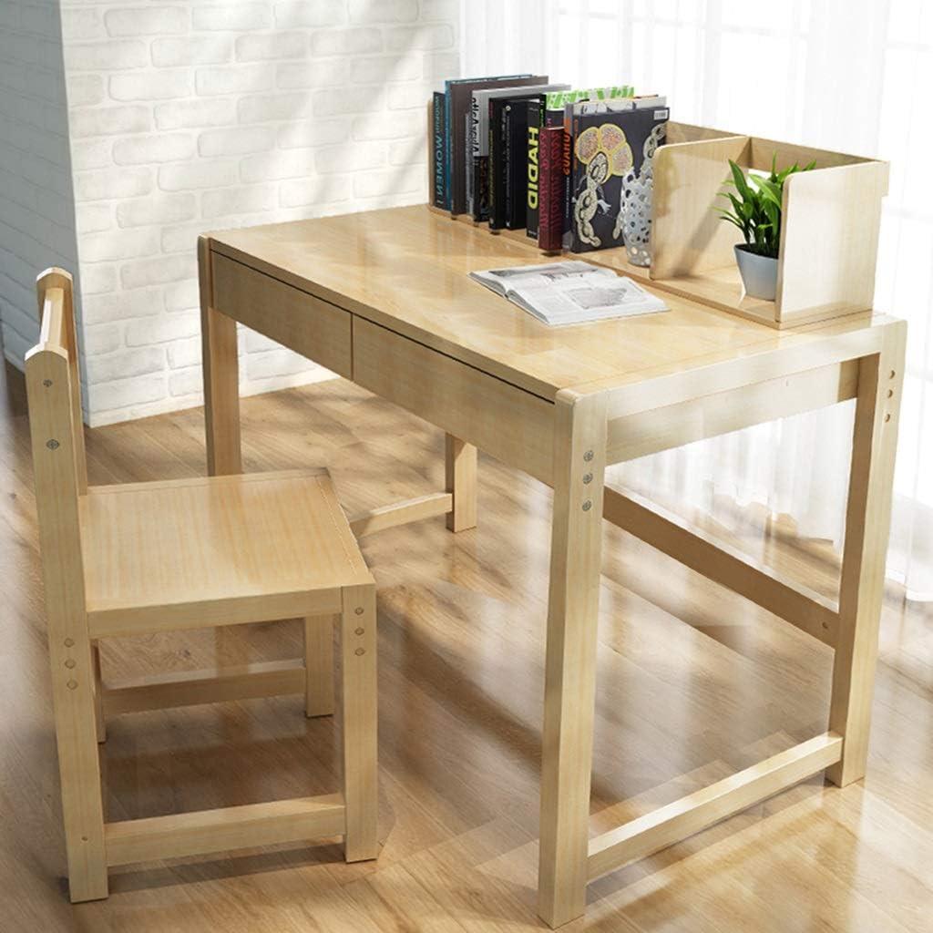 Juegos de mesas y sillas Juego de mesa y silla Mesa de estudio de madera maciza mesa para estudiantes en el hogar y juego de silla pueden elevarse y bajarse mesa de