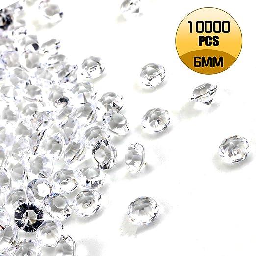 10,000pcs 6.5mm Acrylic Black Beads Confetti Wedding Reception Table Scatter Decoration