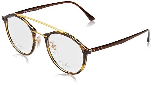 Ray-Ban 0Rx7111, Monturas de Gafas para Mujer, Dark Havana, 49