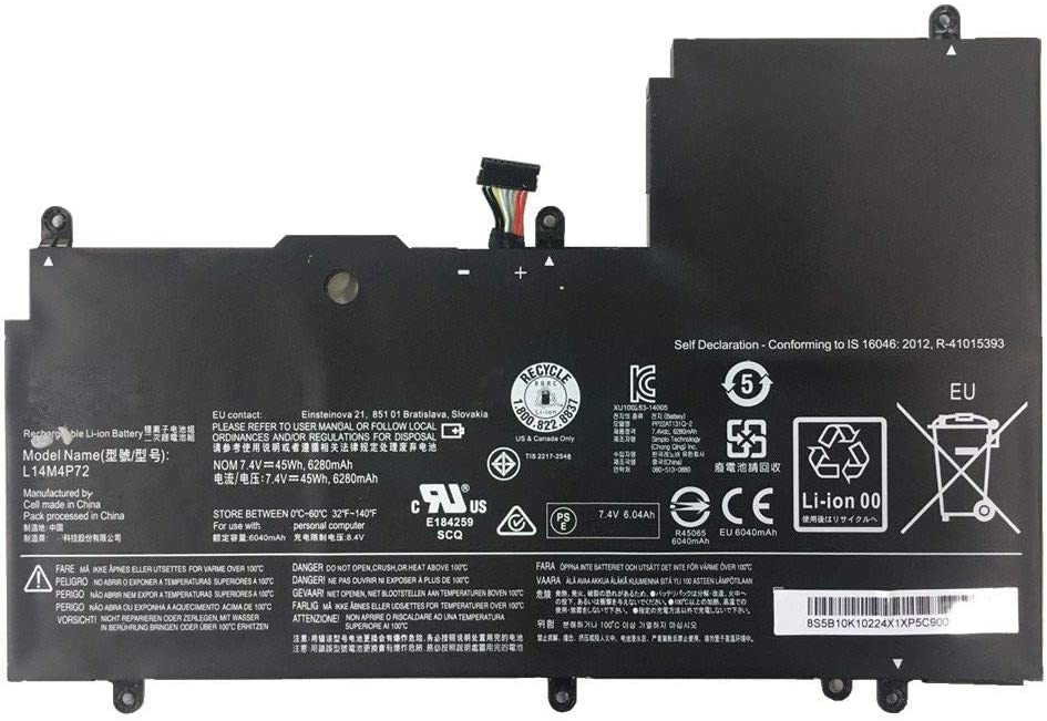 7XINbox 7.4V 45Wh 6280mAh L14M4P72 L14S4P72 Replacement Laptop Battery for Lenovo Yoga 3 14 Yoga 700 14ISK Serie Yoga3 14-IFI Yoga3 14-ISE