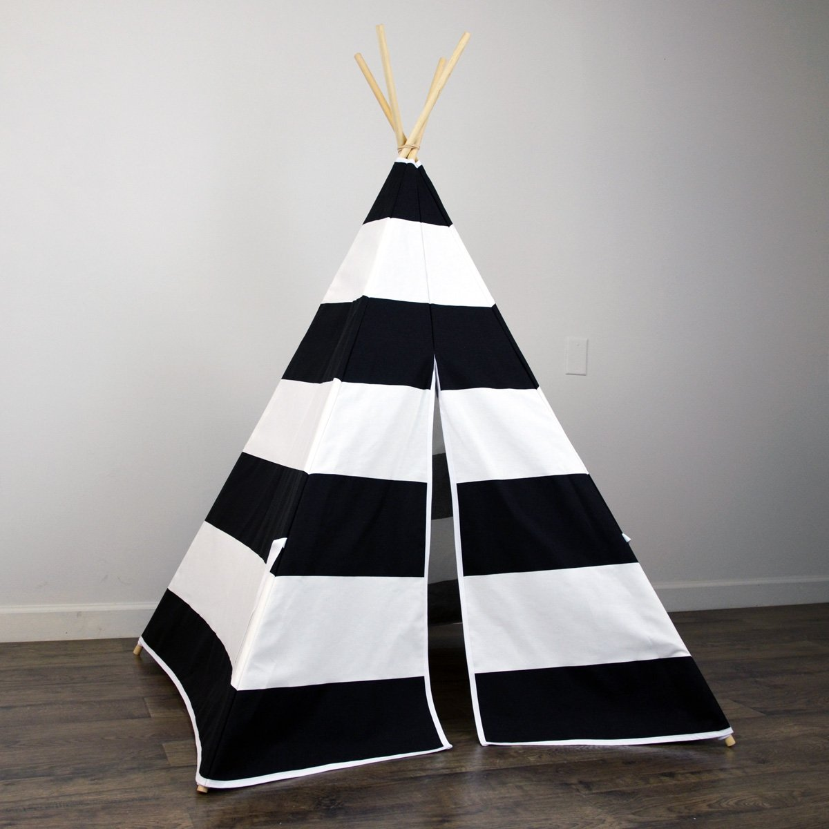 Design Kids Teepee amazon com kids teepee tent in black white stripe includes large canvas and wooden poles great gift idea for bo
