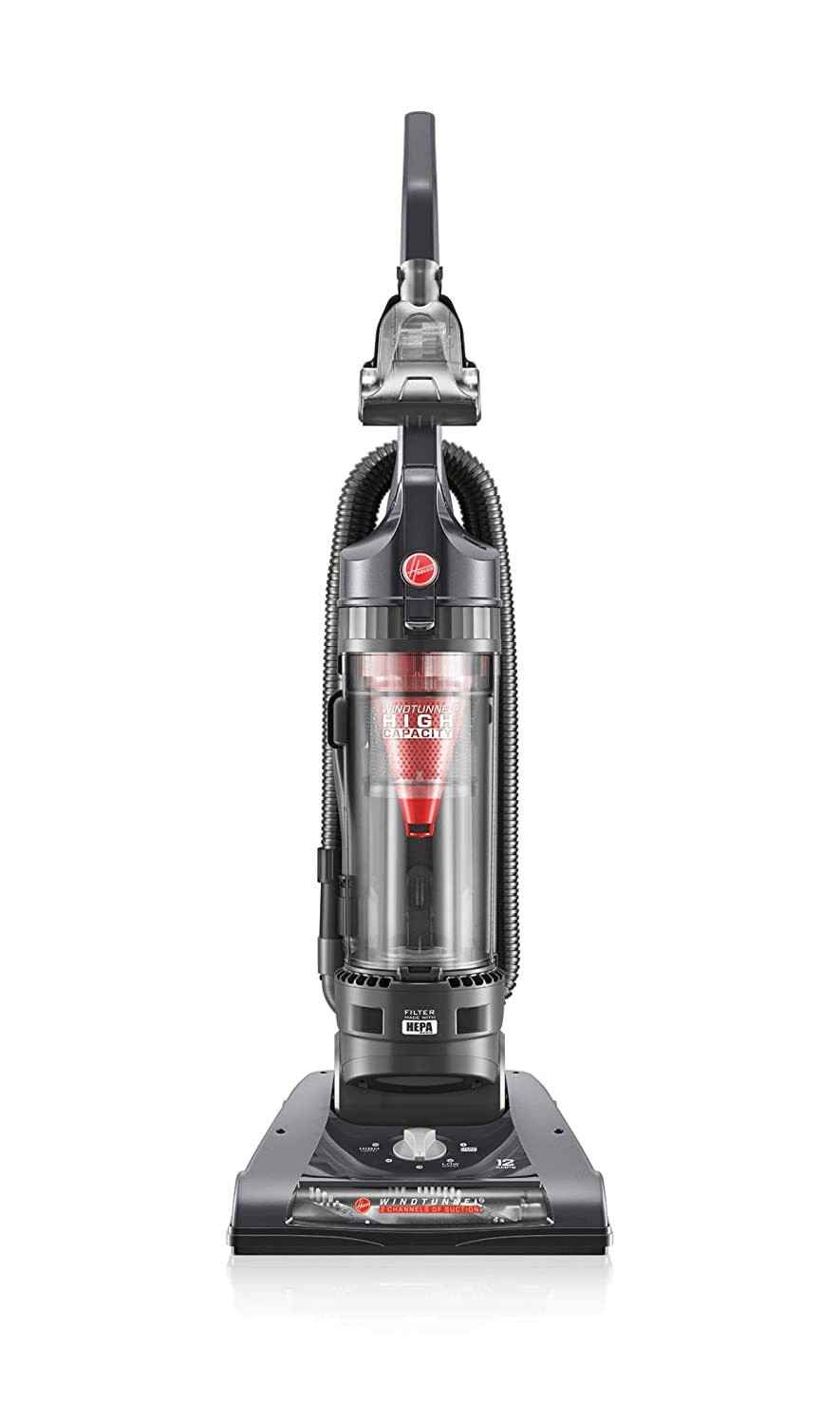 Hoover WindTunnel 2 High Capacity Bagless Corded Upright Vacuum UH70801PC, Metallic