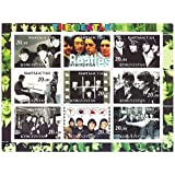 Classic Beatles collectable stamps - 9 mint perforated stamps with classic photos and magazine shots of the band