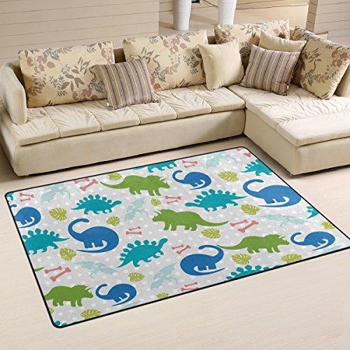 Yochoice Non-slip Area Rugs Home Decor, Stylish Funny Colorf