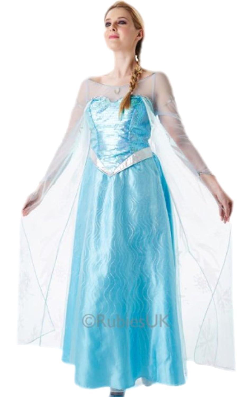 Karnevalsbud - Damen Blaue Fee Fee Fee Prinzessinnen Kostüm , L, Blau e58be5
