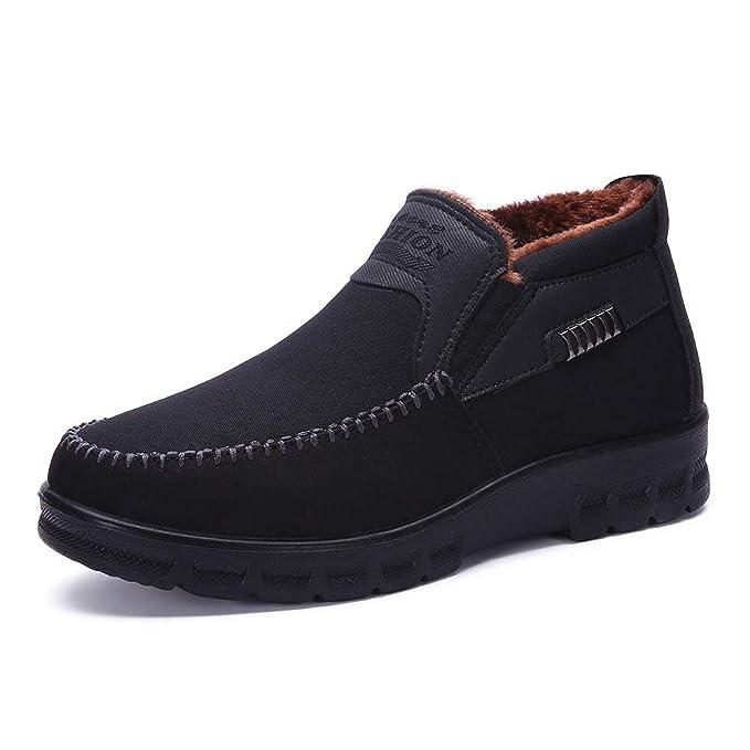 c77d82d25d Amazon.com: Caopixx Shoes for Men Winter Casual Men's Slipper Boot ...