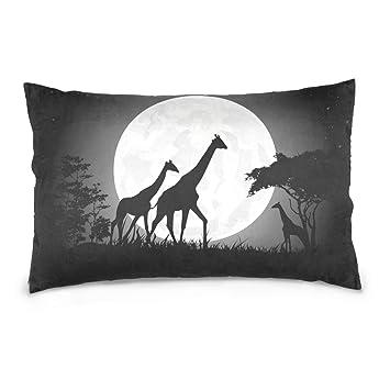 Amazon.com: Dragon Sword Giraffe - Funda de almohada para el ...