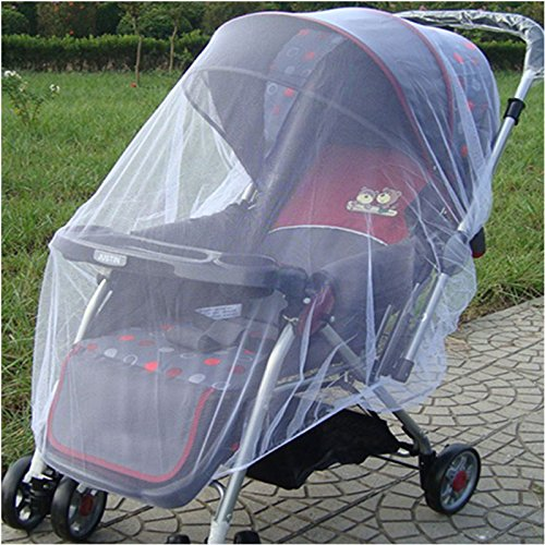 KeyZone 145x115cm Mosquito Stroller Pushchair Infants Baby Mesh Bee Insect Bug Cover Net