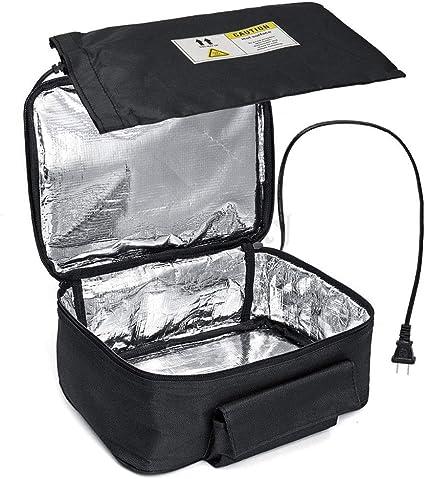 BESTNIFY Calentador de Almuerzo para automóvil y Horno portátil, Caja de Almuerzo de Calentamiento Personal para Calentar Las Comidas en el Trabajo ...