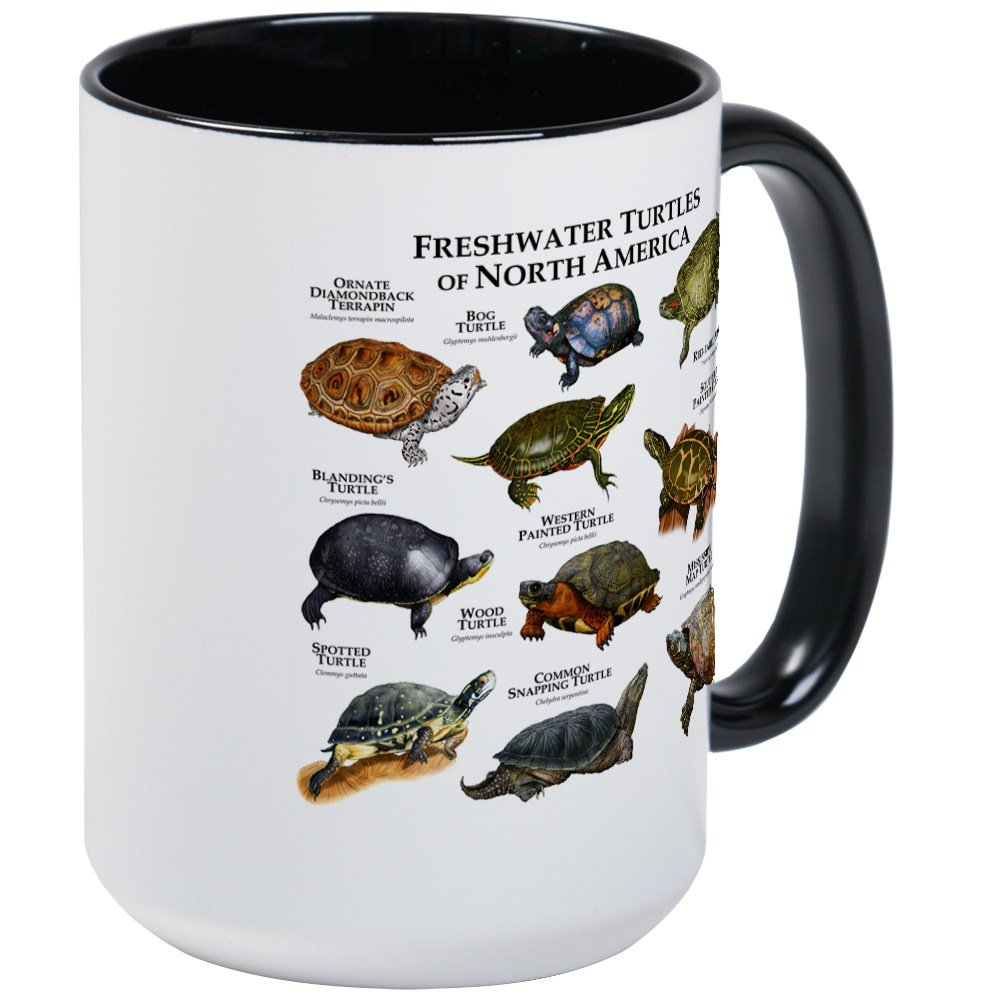 CafePress - Freshwater Turtle Of North America Large Mug - Coffee Mug, Large 15 oz. White Coffee Cup