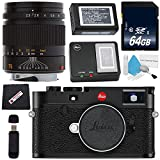Cheap Leica M10 Digital Rangefinder Camera (Black) + Leica 75mm f/2.5 SUMMARIT-M, Manual Focus + 64GB SDXC Card + Card Reader + Microfiber Cloth Bundle