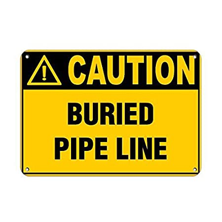 Vvision Caution Buried Pipe Line El Arte Pintura de Hierro ...