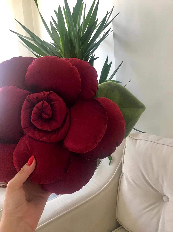 Amazon Com Myshop Rose Flower Shape Bed Sofa Flower Decorative Throw Pillow Stuffed Rose Pillow Sunflower Throw Pillow Bed Flower Shaped Pillow Home Kitchen