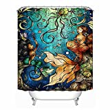 Little Mermaid Decor Collection Waterproof Bathroom Shower Curtain with Hooks Eco-friendly Anti-bacteria Polyester SC042