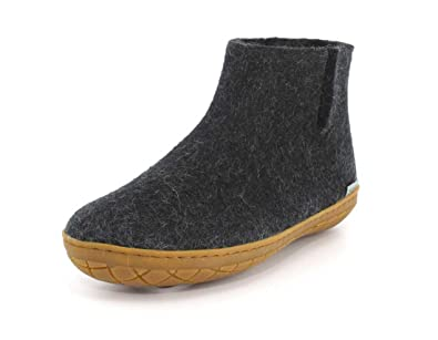 7b5bb3b4ecbc Glerups Unisex GR-02 - Felt Boots with Rubber Sole 35 M Charcoal