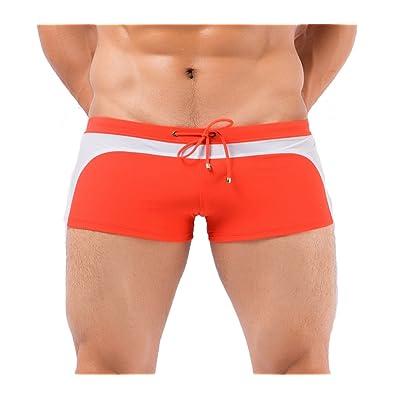Desklets Men's Summer Strips Swimming Underwear Sports Trunks Briefs
