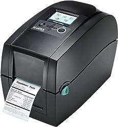 Thermodrucker Thermodirektdrucker Etikettendrucker Godex RT200i 203 DPI Modell mit Abrei/ßkante mittig gef/ührt LAN Display