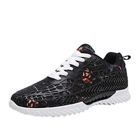 19a378d786d8e Amazon.com: JJHAEVDY Mens Women Couple Color Graffiti Sneakers ...