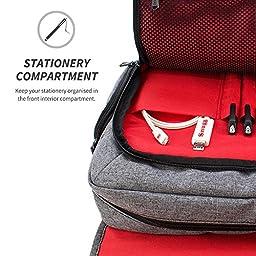 Snugg 15.6-Inch Laptop Bag, Grey