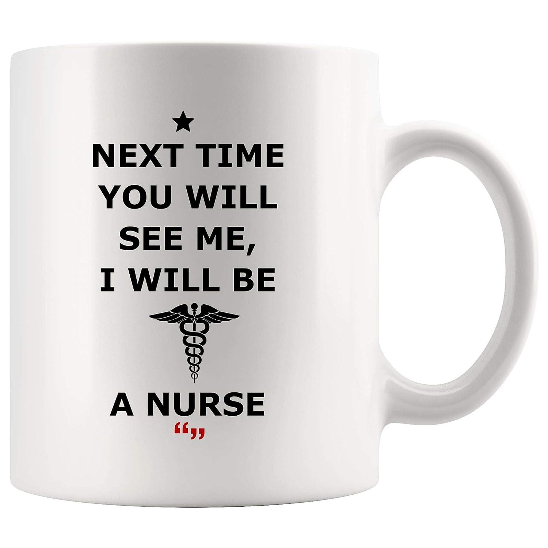 Amazon.com: Next Time See Be Nurse Nursing Graduation School Mug ... #coffeeTime