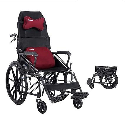 Amazon.com: A&DW - Silla de ruedas de tipo medio tumbado ...