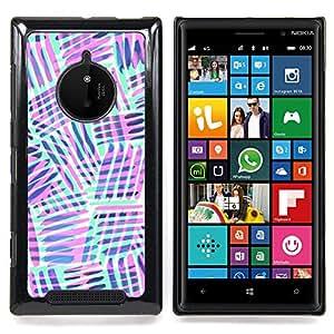 Jordan Colourful Shop - Mint Green Purple Lines Abstract Pattern For Nokia Lumia 830 - < Personalizado negro cubierta de la caja de pl??stico > -