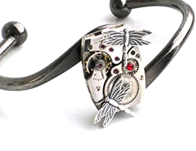 bb0150849 Image Unavailable. Image not available for. Color: Steampunk DRAGONFLY Watch  Movements ...